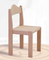Dřevěná praktická stohovatelná dětská židle Mates 1055 - mořený opěrák + sedák