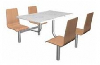 Jídelní set - sedáky z bukové skořepiny deska WERZALIT