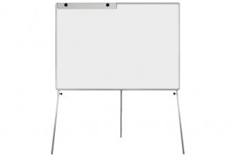 Bílá tabule Manager L 150x100 cm na trojnožce povrch emailový flipchart
