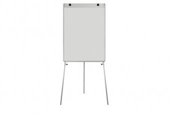 Bílá tabule Manager L 75x100 cm na trojnožce povrch emailový flipchart