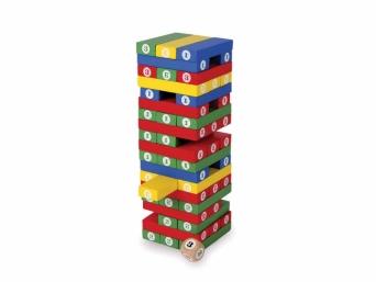 Dětská dřevěná stavebnice Věž s číslicemi 545260