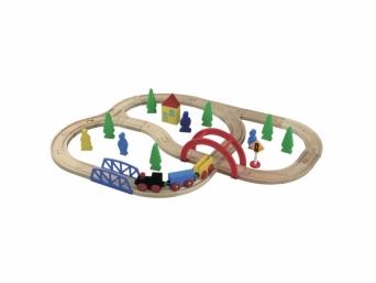 Dětská dřevěná Vláčkodráha 40 ks 5850028