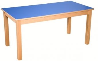 Dětský obdélníkový dřevěný stůl standard s masivní podnoží 120x60 cm - M16.0xx.