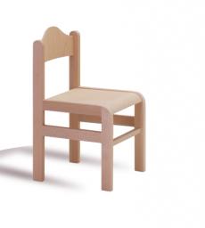 Dřevěná dětská židle Tom s krempou - přírodní dezén 1125