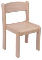 Dřevěná dětská židle Vigo, přírodní sedák - 67.0hh.00