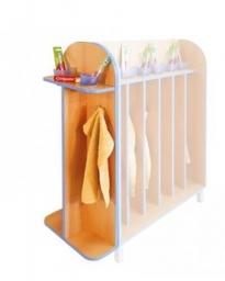 Koupelnová ukončovací police pro dvě děti s kelímky  0L363M