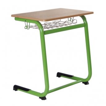 LEONARDO lavice pevná s polohovací pracovní deskou jednomístná 010