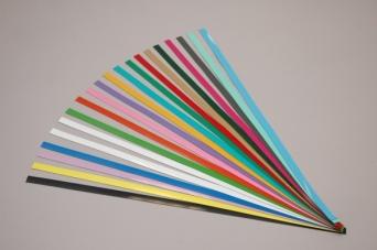 Magnetické barevné nástěnkové tabulové pásky 1. sada barev 60x1,5 cm