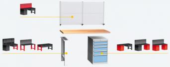 Montovaný pracovní stůl DPS 101