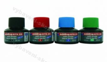 Náhradní inkoust BTK 25 do popisovače na bílé tabule červená