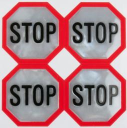 Reflexní samolepky - Stopka