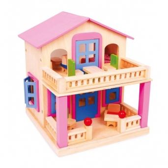 Růžový dům pro panenky 541167