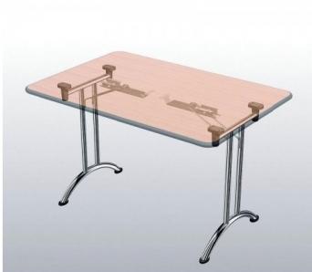 Sklopný stůl se zaoblenou podnoží 140 cm