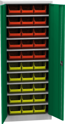 Skřín s plastovými zásobníky SPP 02