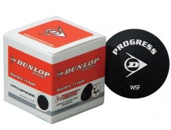 Squashový míček Dunlop PROGRESS - červená