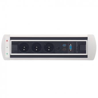 Zásuvkový elektricky otočný panel Vault BTCZ 014
