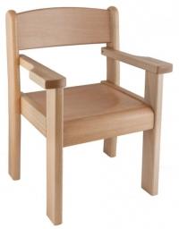 Židle s područkou TIM II - přírodní, výška - 37.0hh.00/P