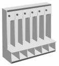 BAMBINI šatní skříňka otevřená s uzavíratelnými boxy