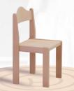 Dřevěná praktická stohovatelná dětská židle Mates 1055 - mořený opěrák