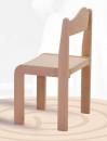 Dřevěná elegantní dětská stohovatelná židle s krempou David 1155 - mořený sedák