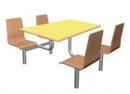 Jídelní set - sedáky z bukové skořepiny deska HPL laminát