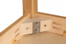 Dětský obdélníkový dřevěný stůl standard s masivní podnoží 80x60 cm - M16.2xx.