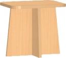 Dětská dřevěná židlička 30x30 cm 0L050M