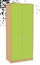 Dřevěná dětská skříň široká s dveřmi vysoká