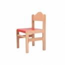 Dřevěná dětská židle Adam mořený sedák 1025