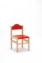 Dřevěná dětská židle Adam mořený sedák a opěrák 1025