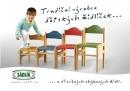 Dřevěná dětská židle Adam přírodní 1025