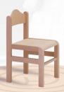 Dřevěná dětská židle Tom s krempou - mořený sedák 1125