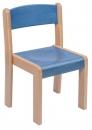 Dřevěná dětská židle TIM mořený sedák a opěrák - C17.018.