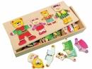 Dřevěná hra Šatní skříň medvědů 3788016