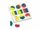 Dřevěné Puzzle geometrické tvary 3784029