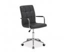 Kancelářská židle (křeslo) Q022 - šedá
