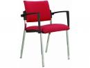 Alba Konferenční (jednací) židle Square čalouněná černý plast - SLEVA nebo DÁREK