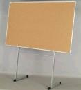 Korková informační závěsná nástěnka hliníkový rám 150x100 cm