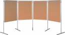 Korkový paravan 75x100 cm na nohách
