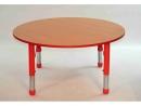 Dětský kulatý stůl 100 cm výškově stavitelný s rektifikací