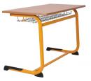 LEONARDO lavice pevná s polohovací pracovní deskou dvoumístná PULA 009