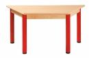 Lichoběžníkový dřevěný stůl s rektifikační patkou 120 x 60 cm - x66.4hh.color