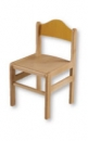 Dřevěná dětská židle Adam mořený opěrák 1025