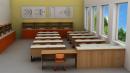 Odborná učebna fyziky pro 30 studentů s laboratorními stoly