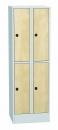 Plechová šatní skříň dvoudílná čtyřdvéřová s LTD dveřmi SHS_32_A_L