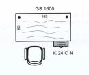 Pracovní stůl Gate GS 1600 160x75,5x80 cm (ŠxVxH)