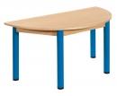 Půlkulatý dřevěný stůl s rektifikační patkou 120 x 60 cm - x66.6hh.color