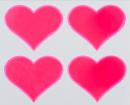 Reflexní samolepky - Srdíčko růžové