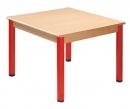 Čtvercový dřevěný stůl s rektifikační patkou 80 x 80 cm - M66.3xx.
