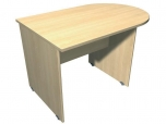 Stůl kancelářský jednací Hobis Standard s obloukem HS